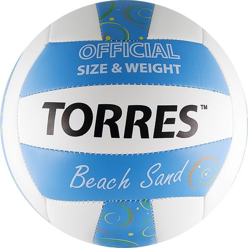 Мяч для пляжного волейбола TORRES Beach Sand Blue размер 5