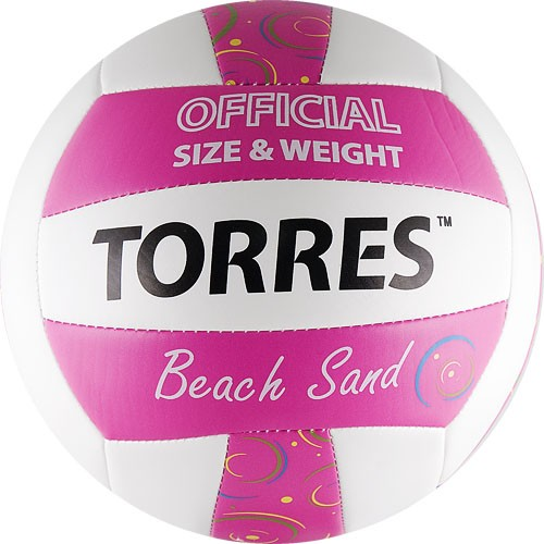 Мяч для пляжного волейбола TORRES Beach Sand Pink размер 5