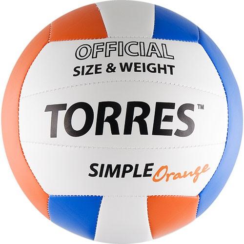 Волейбольный мяч TORRES Simple Orange размер 5